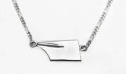 Medium Rowing Hatchet Blade with Figaro Chain Anklet by Rubini Jewelers