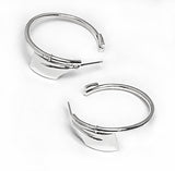 Medium Rowing Hatchet Oars Hoop Earrings by Rubini Jewelers
