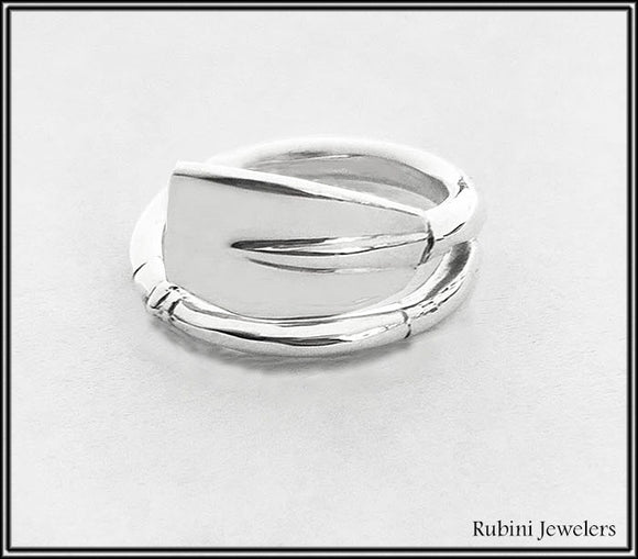Medium Tulip Oar Wrap Ring by Rubini Jewelers