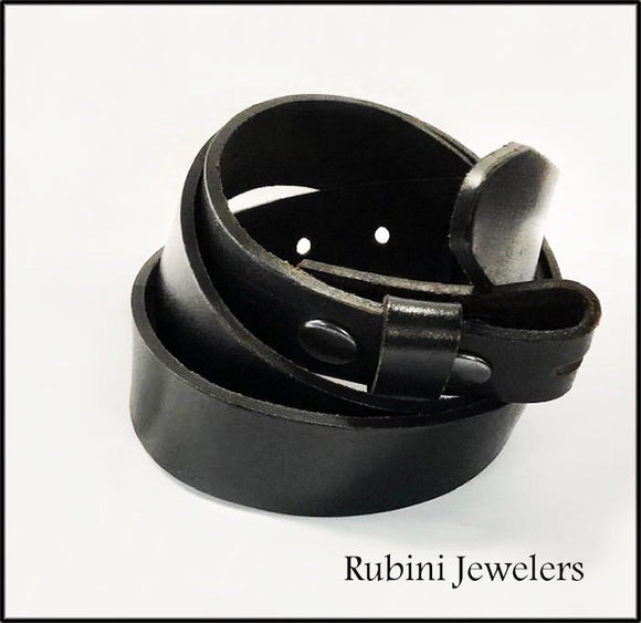 Lightly Distressed Peruvian Full Grain Leather Belt from Rubini Jewelers