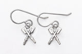 Petite Crossed Hatchet Oars on Wire Dangle Earrings, by Rubini Jewelers