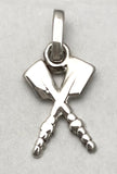 Petite Crossed Rowing Hatchet Oars Pendant or Charm by Rubini Jewelers