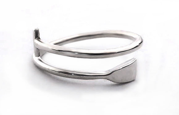 Petite Dragon Boat Paddle Wrap Ring, by Rubini Jewelers