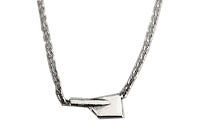 Petite Horizontal Rowing Blade with Cable Chain Necklace by Rubini Jewelers