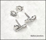 Petite Looped SUP, Canoe, Dragon Boat Paddle Post Earrings by Rubini Jewelers