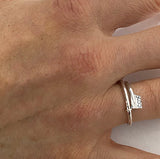 "Ring: X-small oar wrap engraved ""COX"""