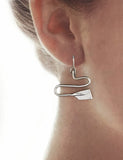Winding River Rowing Oars Dangle Earrings by Rubini  Jewelers