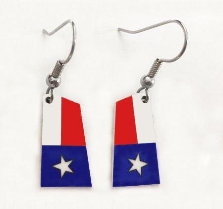 Custom Aluminum Rowing Team Blade Earrings with French Wires