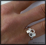 Teamwork Rowing Knot Ring by Rubini Jewelers