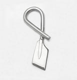 Bent Over Hatchet Oar Rowing Pendant by Rubini Jewelers
