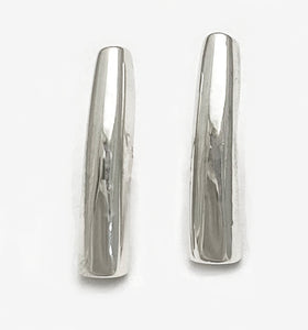 Curved Bar Post Earrings by Rubini Jewelers