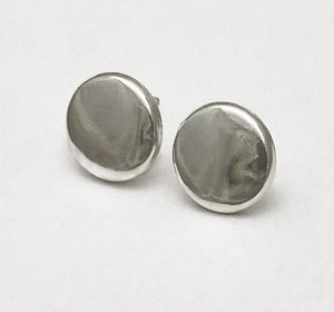 Polished Button Post Earrings