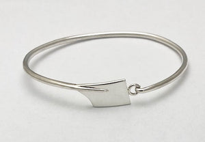 Small Rowing Hatchet Blade Modified Hinge Bracelet Sterling Silver by Rubini Jewelers