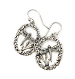 Sterling Silver Dragonfly Dangle Earrings at Rubini Jewelers