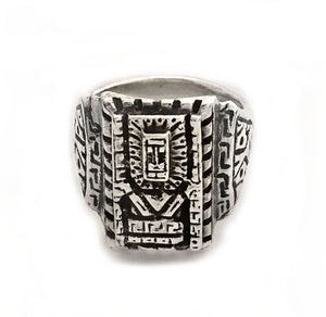 Silver Wiracocha Signet Style Ring by Rubini Jewelers