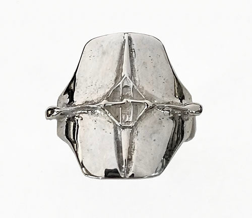 Single Rowing Shell on Signet Style Ring by Rubini Jewelers