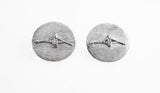 Single Sculler on Brush Finish Oval Post Earrings by Rubini Jewelers