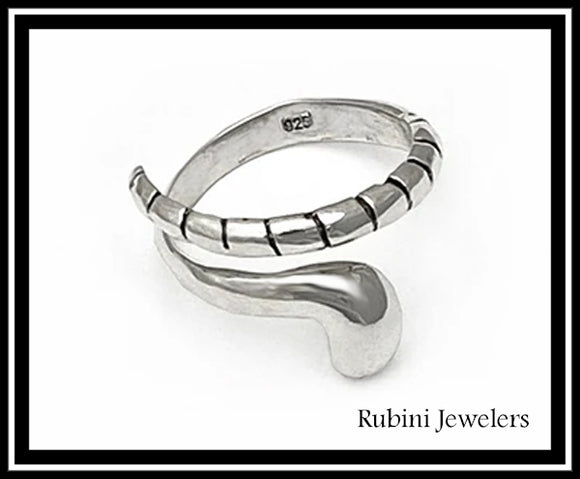 Small Field Hockey Wrap Ring in Sterling Silver by Rubini Jewelers