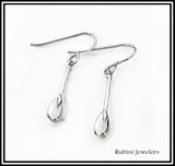 Small SUP, Canoe, Dragon Boat Paddles Dangle Earrings by Rubini Jewelers