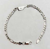 Small Rowing Oar and Wide Figaro Chain Bracelet by Rubini Jewelers