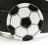Soccer Ball Enameled Belt Buckle by Rubini Jewelers