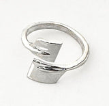 Bypass Small Oars Adjustable Rowing Ring by Rubini Jewelers