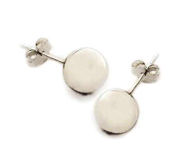 Sterling Silver 8mm Ball Studs Post Earrings at Rubini Jewelers