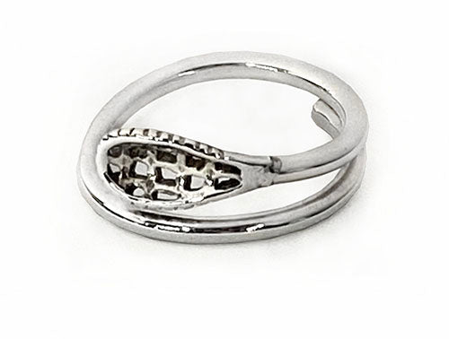 Sterling Silver Lacrosse Stick Wrap Ring by Rubini Jewelers