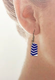 Custom Aluminum Rowing Team Oar Earrings with French Wires