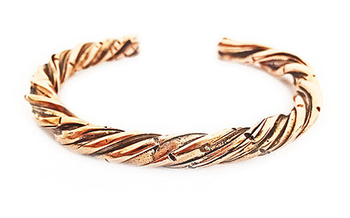 Handmade Twist Copper Cuff Bracelet by Rubini Jewelers