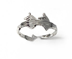 Pair Rowing Boat Ring by Rubini Jewelers