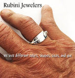 Twist Wire Band Tulip Blade Rowing Ring One Of Kind Ring by Rubini Jewelers