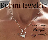 Silver River with Sapphire Rowing Pendant by Rubini Jewelers, meme