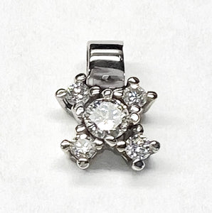 White Gold pendant with Diamond Cluster by Rubini Jewelers