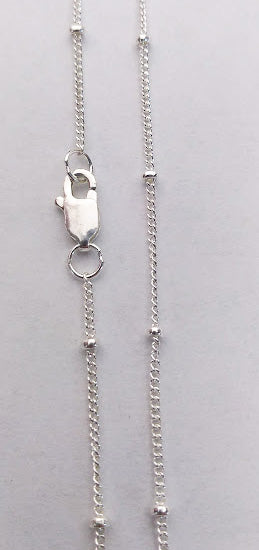 Sterling Silver Curb Chain with Balls from Rubini Jewelers