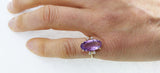 14K Gold Amethyst & Diamond Vintage Ring by Rubini Jewelers