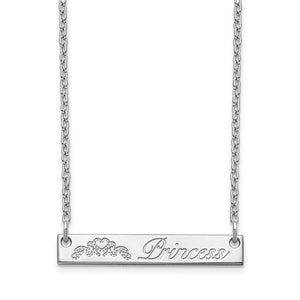 Personalized Bar Necklace- Sterling Silver