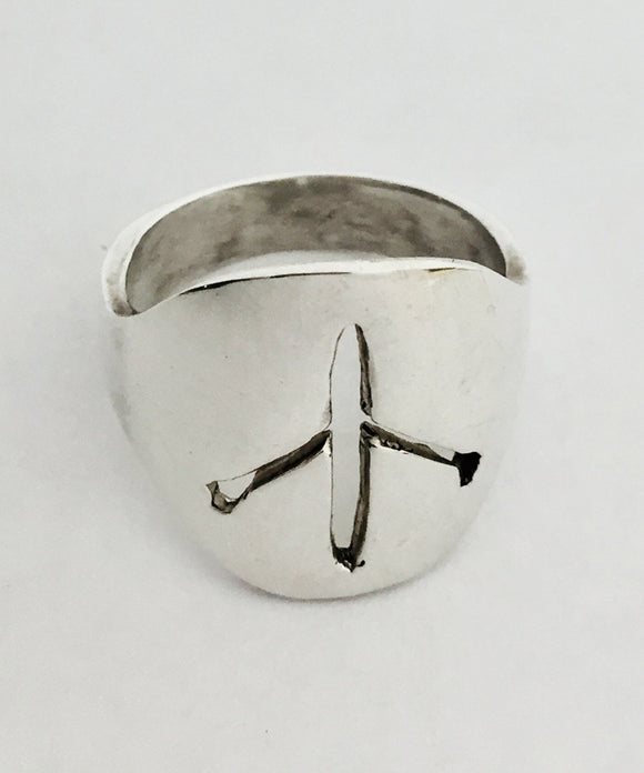 Round Top with Single Scull Cut Away Ring by Rubini Jewelers