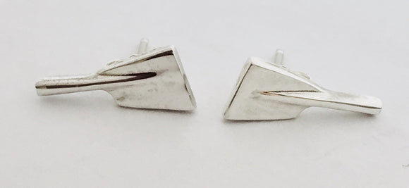 Small Rowing Blade with Shaft Earrings by Rubini Jewelers