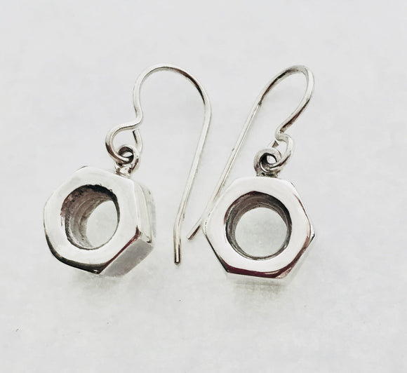 Sterling Silver 7/16'' Nuts Dangle Earrings by Rubini Jewelers