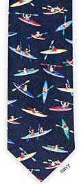 Men's Necktie with kayakers