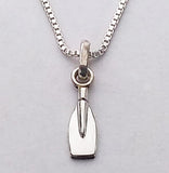 "Mini Tulip Blade with 16"" Box Chain Necklace, by Rubini Jewelers"