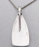 X-Large Concaved Tulip Rowing Blade Pendant, by Rubini Jewelers