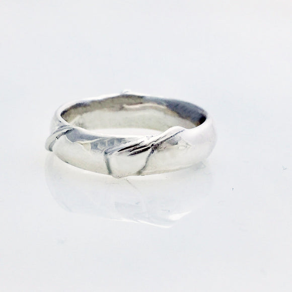 Rowing Oar Wrapped Around Band Ring by Rubini Jewelers