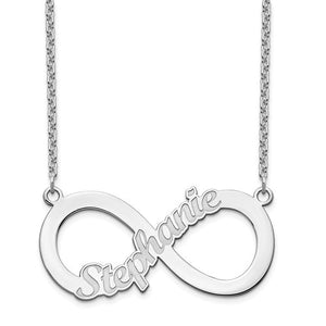 Personalized Infinity Symbol Nameplate Necklace