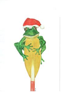 Rowing Frog Christmas Cards, by Barbara Neville, available from Rubini Jewelers