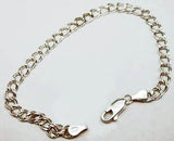 Sterling Silver 4.5mm Wide Charm Bracelet at Rubini Jewelers