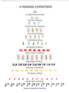 Rowing Emoji Christmas Cards, by Barbara Neville, available from Rubini Jewelers