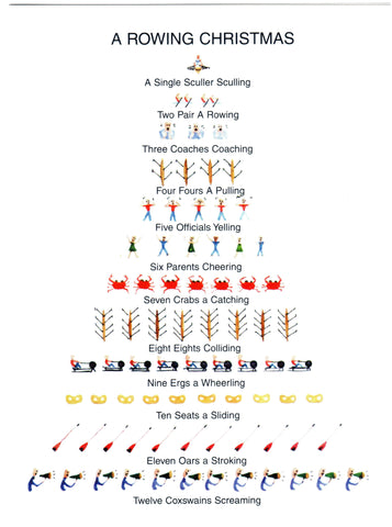 A Rowing Christmas Card- 10 Pack