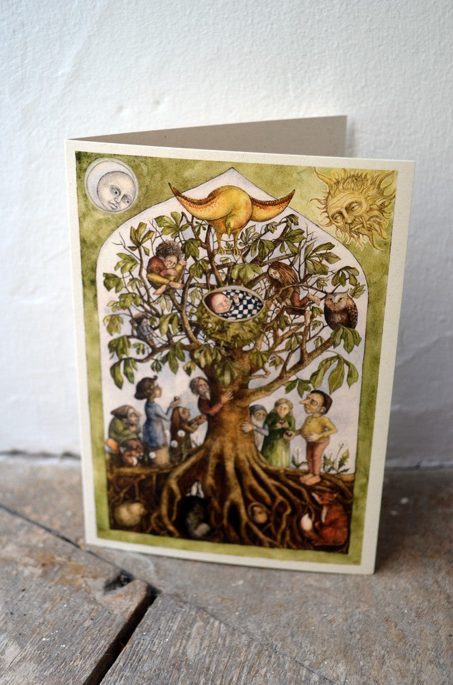 Anja in the Horse Chestnut - greetings card